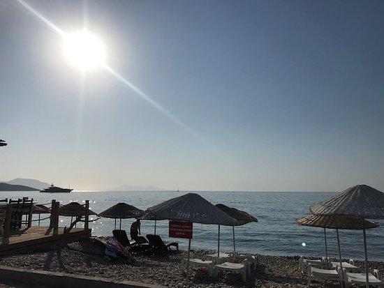 Yakakoy, Turkije: Palamutbükü otel rezervasyonunuzu erken yaptırmanızı öneririm. Çünkü bu sahil çok tercih ediliyor. Mükemmel bir sahil ve denizi var. Mutlaka görmenizi tavsiye ederim.