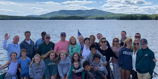Sunapee, NH: Here's our happy birthday party group!