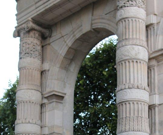 Les vestiges de l'ancien palais des tuileries
