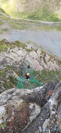 KONG Adventure: Via Ferrata Extreme, Honister Pass. The cargo net.