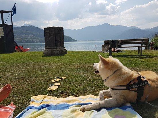 Calceranica al Lago, Italie : Bau Beach