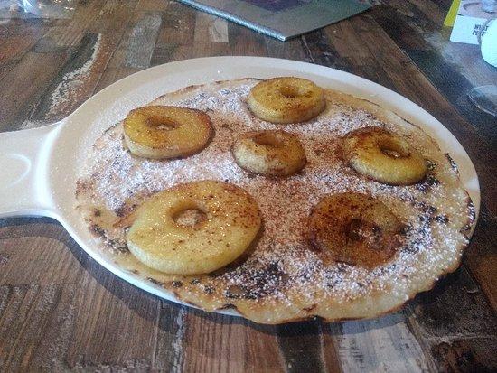Sint-Katelijne-Waver, België: Gluten- en lactosevrije pannenkoek. Njam!