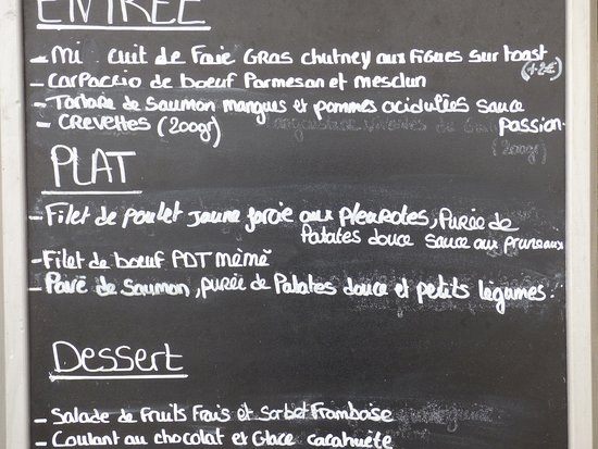 La Roche Derrien, Frankrijk: un choix restreint signe d'une excellente cuisine mais quel délice pour les papilles