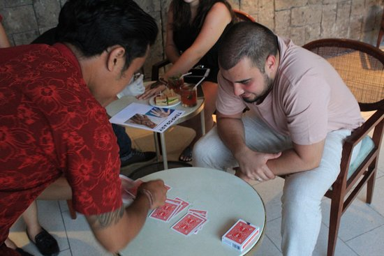 Playing Magic Card