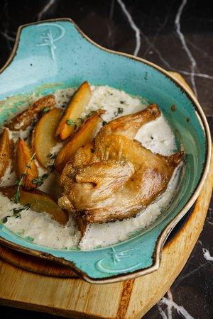 Цыпленок в сливочном соусе