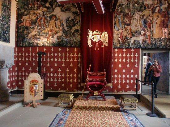 Toegangskaartje tot Stirling Castle: o salão nobre.
