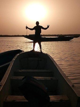 Oussouye, Senegal: Coucher du soleil à Elinkine!