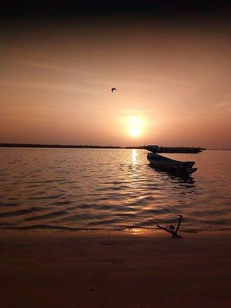 Oussouye, Senegal: Coucher du soleil.