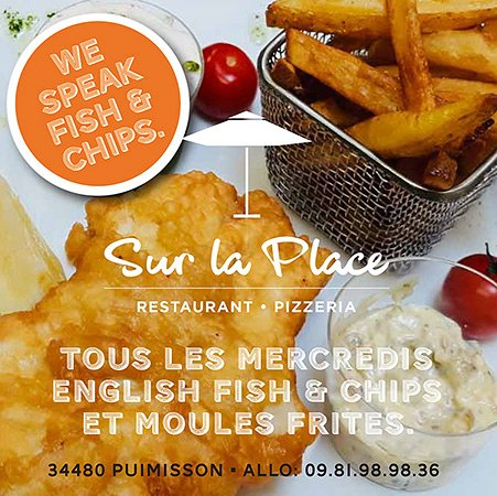 Puimisson, Frankrike: Fish and chips tous les mercredis