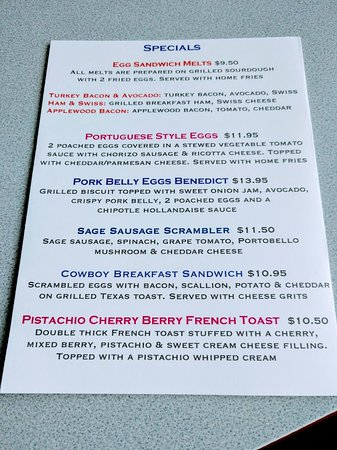 There are many nice specials to choose from
