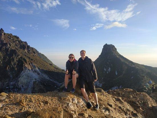 Berastagi Adventure: Leon & her wife from Germany