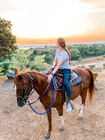 Horseback Riding on Scenic Texas Ranch near Waco Fotografie