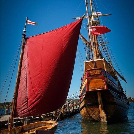 Saint Mary's City, MD: Maryland Dove, a representation of a 17th-century cargo vessel at Historic St. Mary's City, Maryland.