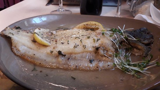 Highworth, UK: Dover sole with butter and lemon juce