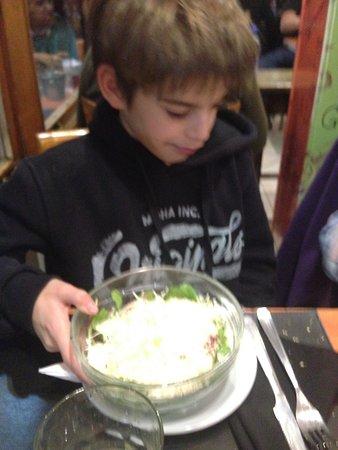 San Justo, Argentina: ensalada cesar del nene