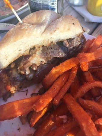 Ranier, MN: Prime rib sandwich! Delicious!