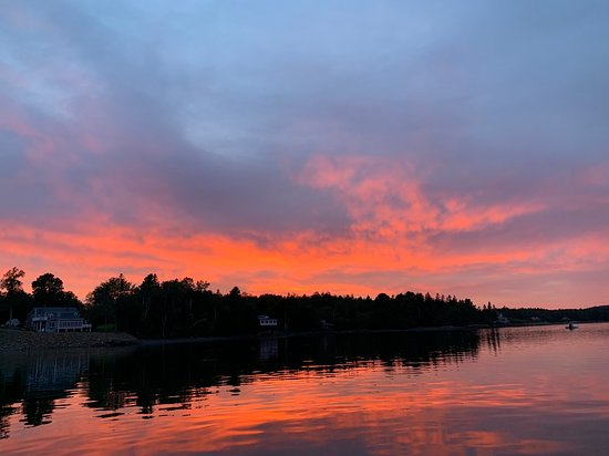Robbinston, ME: Sunset from Lamb Cove Cottage