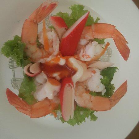 Kratie Province, Cambodja: Cocktails shrimps