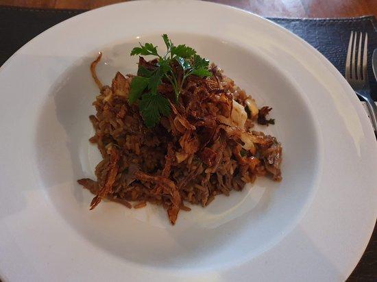 Delicioso arroz de cordeiro