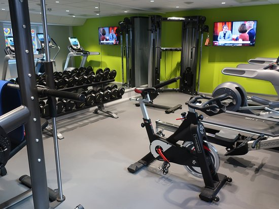 A good size fitness area.