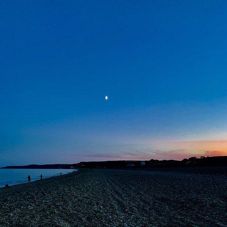 Slapton sands at sunset