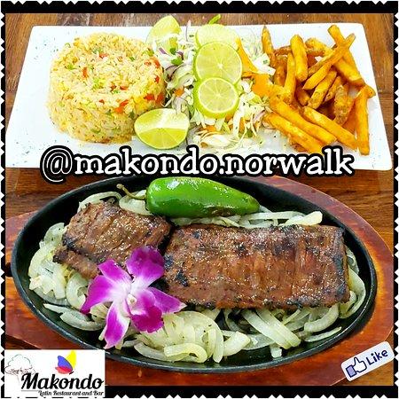 Weekend Special: Mezquite Marinated 🥩Skirt Steak, Chaufa🍚 Rice, Salad🥗 and Seasoned Fries🍟!!!  Especial Del Fin de Semana: Entraña 🥩Marinada Mezquite, Arroz 🍚Chaufa, Ensalada🥗 y Papas Fritas🍟 Sazonadas!!