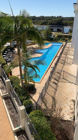 Excellent pool, perfect for small children as it has a small beach area under shadecloth, great for building sandcastles, separate from but connected to the main pool. Brilliant design!