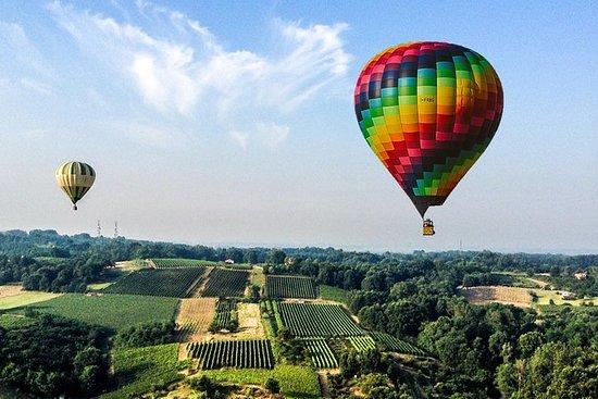 熱気球飛行ミラノ - 日没