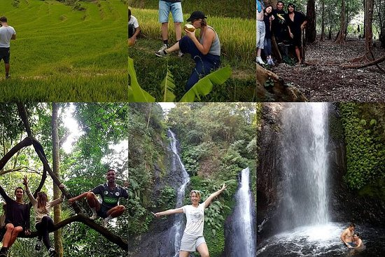 Galungan waterfalls trekking tour, exploring the real nature of Bali