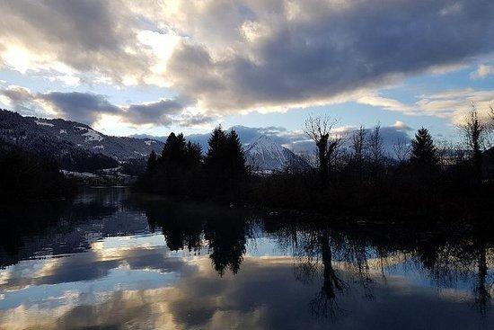 Lac bleu et randonnée en raquettes