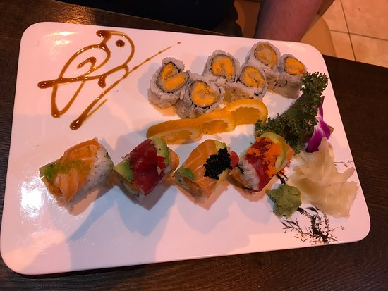 Glen Rock, NJ: Wasabi roll and sweet potato roll