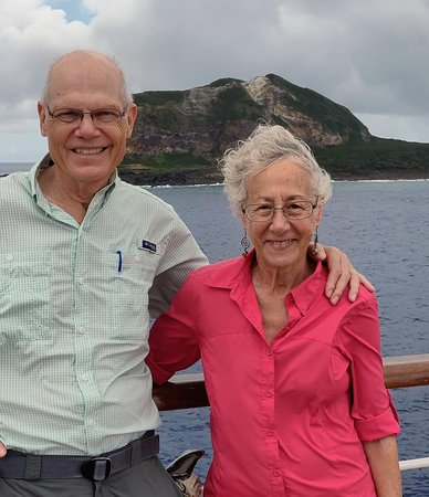 Iwo Jima, Japani: Author and wife.