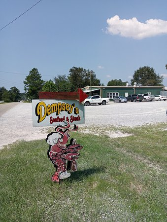 View of restaurant from roadside sign
