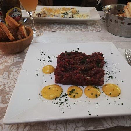 Argentona, Spain: Steak tartar