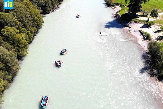 Hi5 Bootstouren auf der Drau