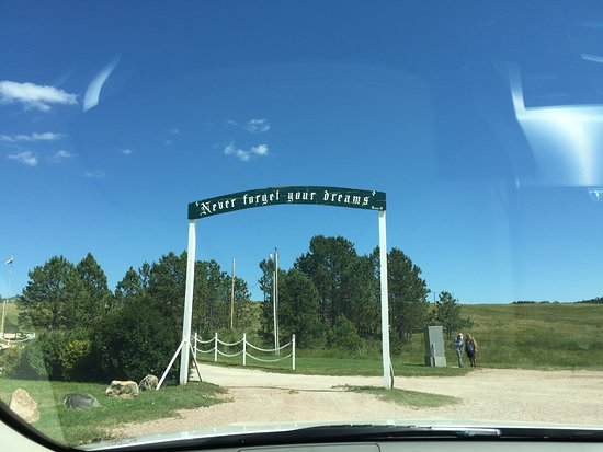 Crazy Horse, SD: Sign at entrance