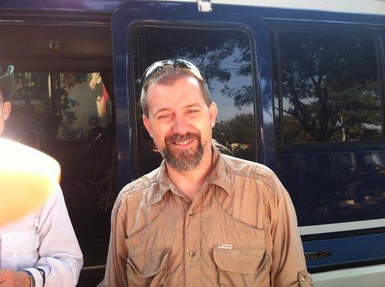 David at Keys hotel before driving to Lemosho route for Kilimanjoro climbing.