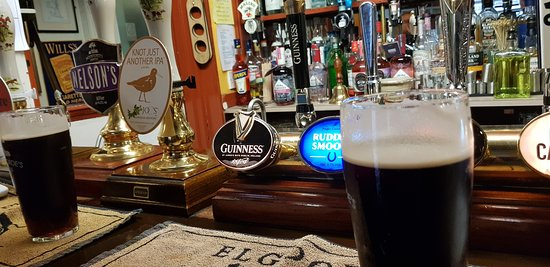 King's Lynn, UK: Pint of Mild with companion ale.