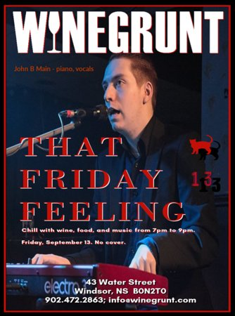 That Friday Feeling with John B Main at Winegrunt1