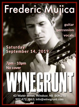 Frederic Mujica brings Latin music to Winegrunt!