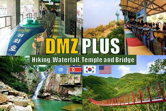DMZ私人旅游加上徒步旅行,吊桥,瀑布和寺庙