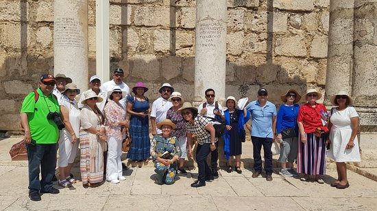 8 Days Footsteps of Christ Holy Land Tour to Israel: Visiting Capernaum in the Galilee, where Jesus made many miracles.