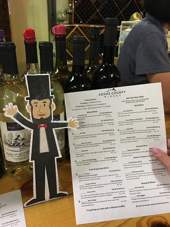 Little Lincoln accompanied us on our wine tasting
