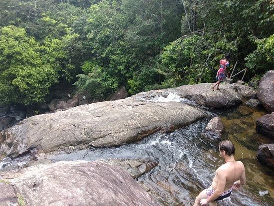 Elpitiya, Sri Lanka: Верхняя часть водопада