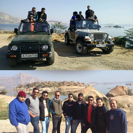 Jeep safari at Jawai Dam.