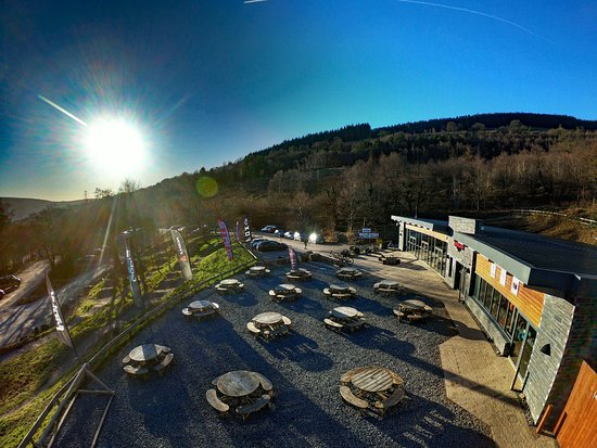 Merthyr Tydfil, UK: The BikePark Wales visitor centre  - Cafe and bike shop open to all