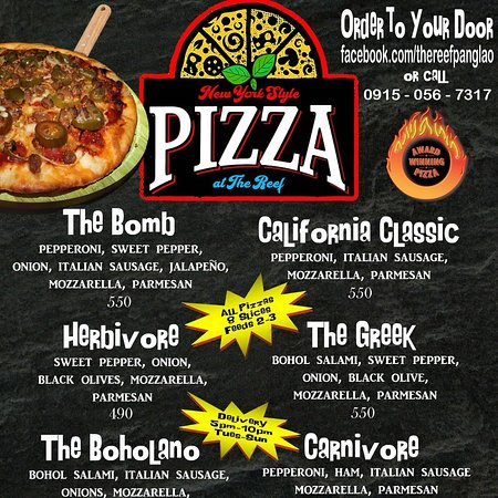 Order our award winning pizza to your door from anywhere in Panglao!