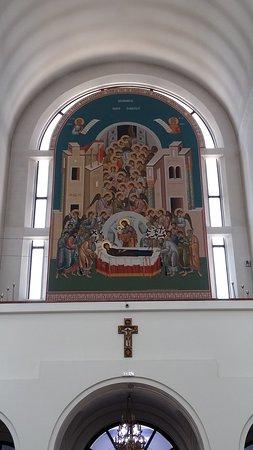 Caransebes, Romania: Dettaglio interno. Cattedrale ortodossa
