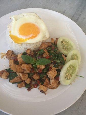 Stir-fried Tofu with Holy Basil