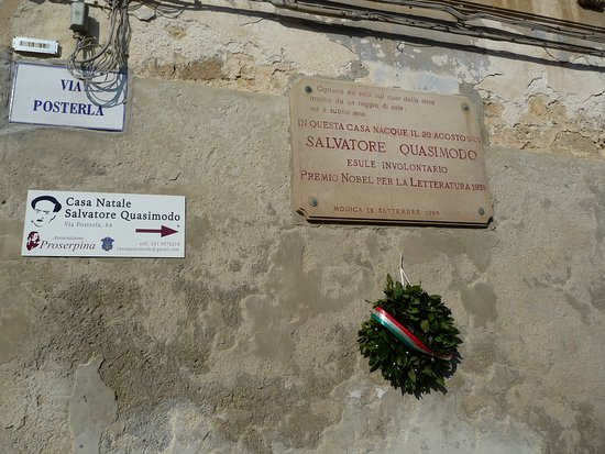 A Modica nella parte alta della città, la casa di Salvatore Quasimodo